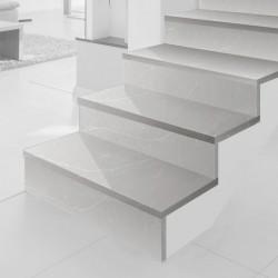 """Escalier en quartz Silestone """"desert Silver"""""""