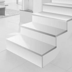 "Escalier en quartz Silestone ""Blanco zeus"""