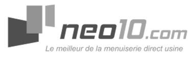 Neo10.com, fabricant de menuiserie en ligne depuis 2007