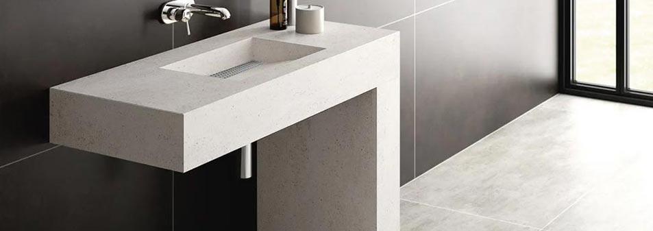 Vasque salle de bain sur mesure en quartz silestone design